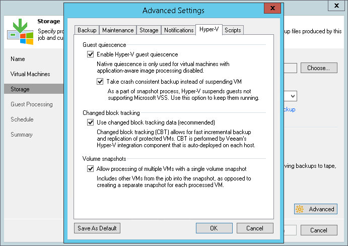 Microsoft Hyper-V Guest Quiescence