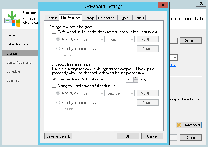 Retention Policy for Deleted VMs