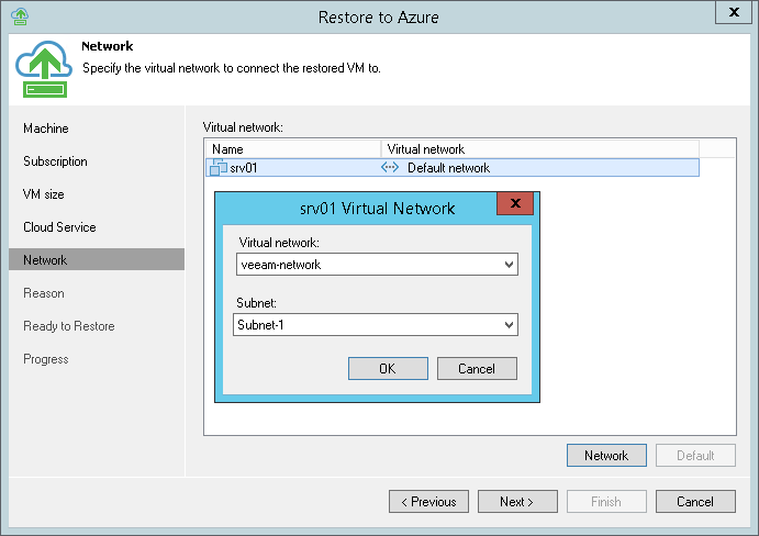 Step 6. Select Virtual Network