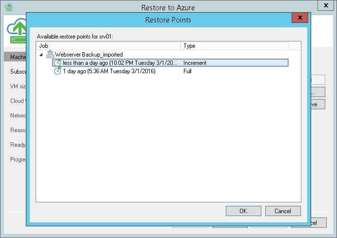 Step 2. Select Restore Point