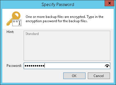 Restoring Data from Encrypted Backups - Veeam Agent for