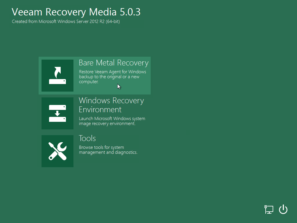 Launch Bare Metal Recovery