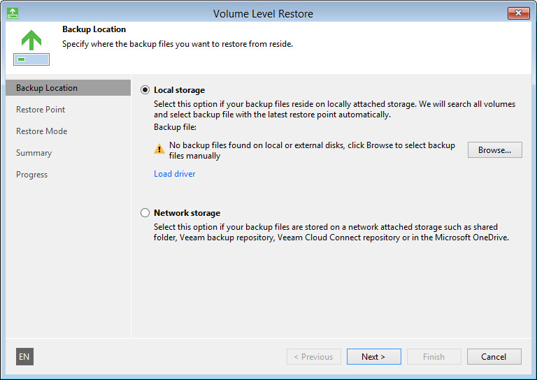 Step 4  Specify Backup File Location - Veeam Agent for