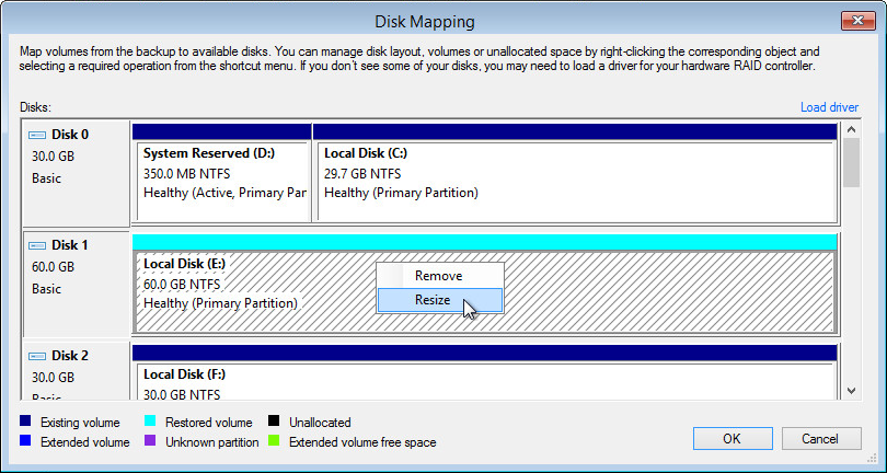 Step 10  Map Restored Disks - Veeam Agent for Microsoft