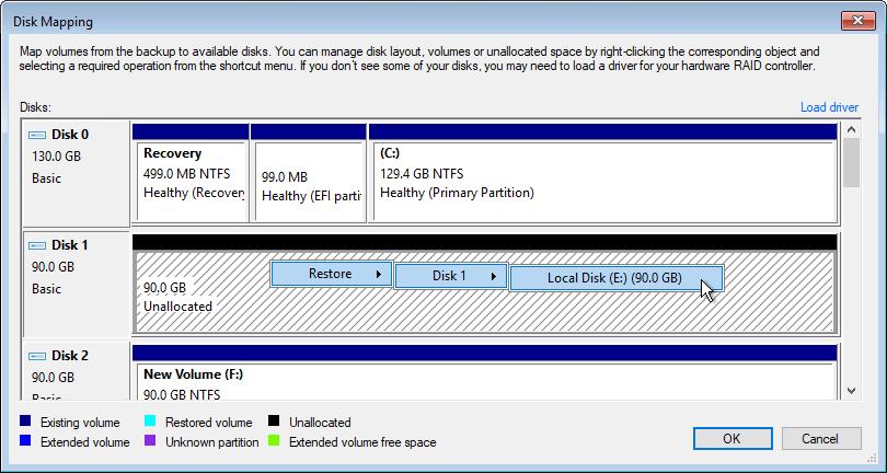 Step 10. Map Restored Disks