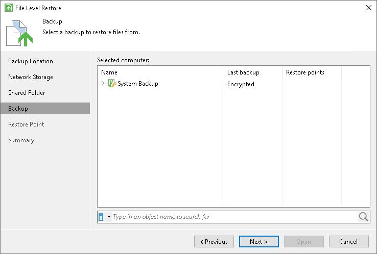 Restoring Data from Encrypted Backups - Veeam Agent for