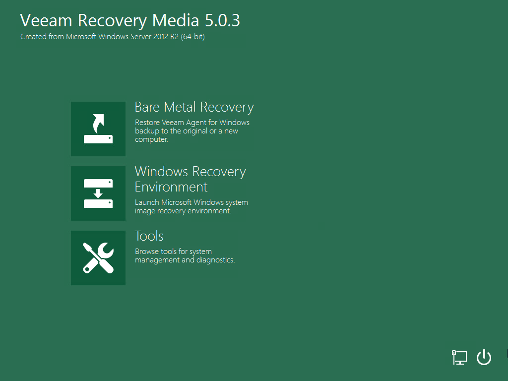 Boot from Veeam Recovery Media