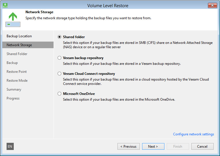 Perform Bare-Metal Recovery - Veeam Agent for Microsoft Windows Guide