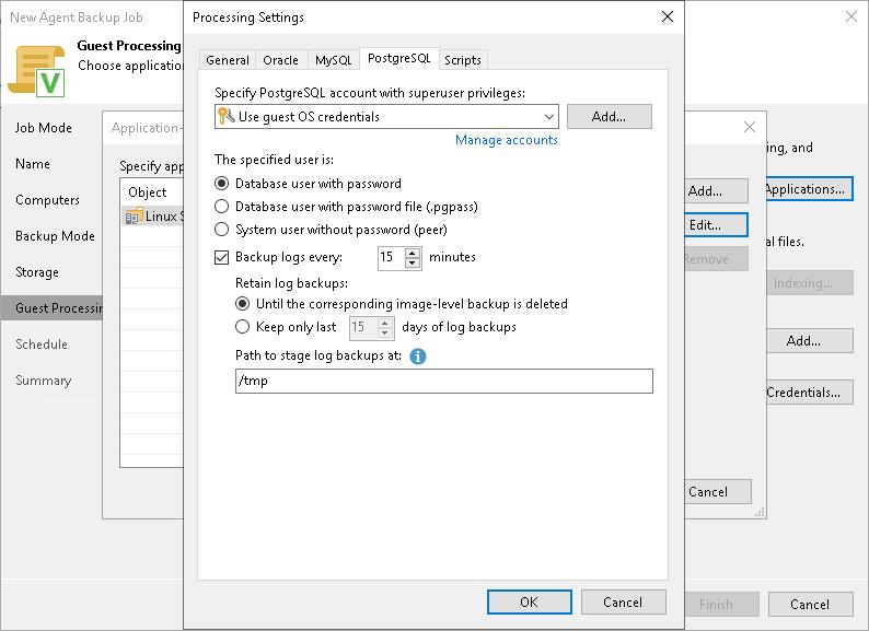 PostgreSQL Processing Settings