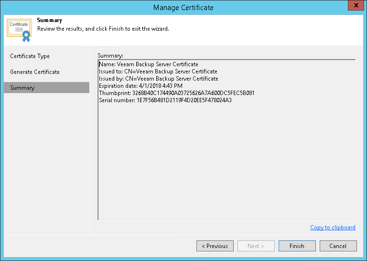 Generating Self Signed Certificates Veeam Agent Management Guide
