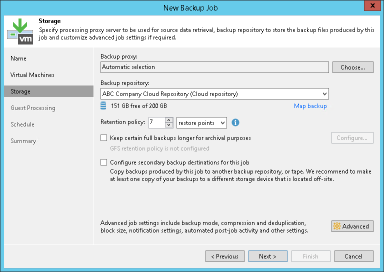 Creating Backup Jobs - Veeam Cloud Connect Guide