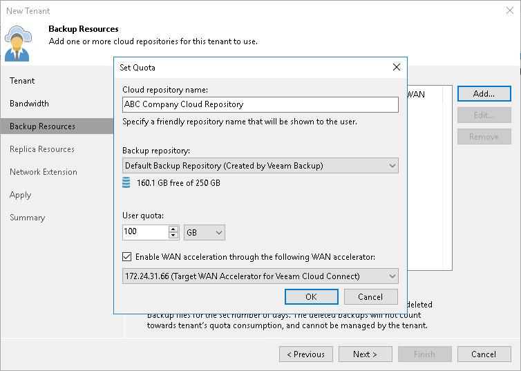 Configuring Target WAN Accelerators - Veeam Cloud Connect Guide