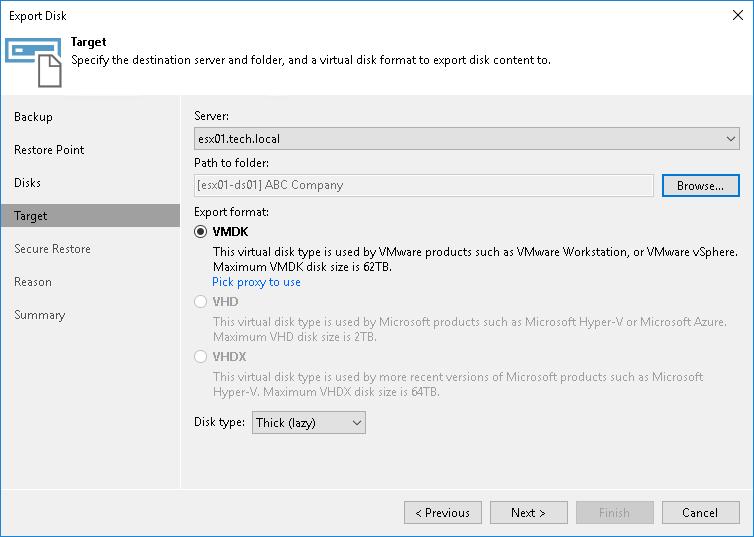 Exporting Disks from Veeam Agent Backups - Veeam Cloud