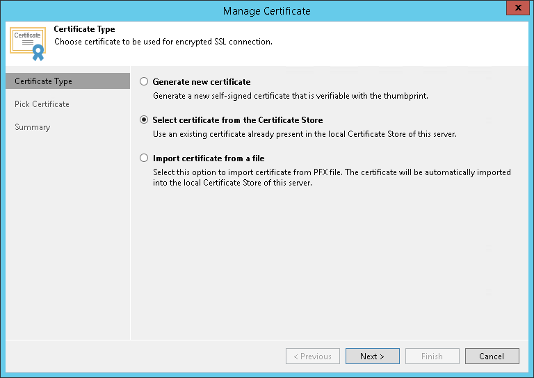 Importing Certificates from Certificate Store - Veeam Cloud Connect ...