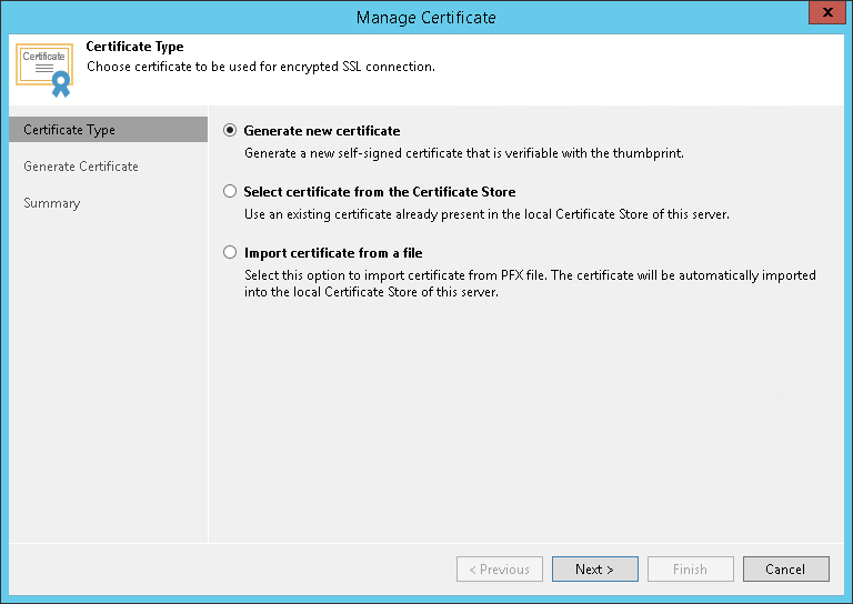 Generating Self Signed Certificates Veeam Cloud Connect Guide