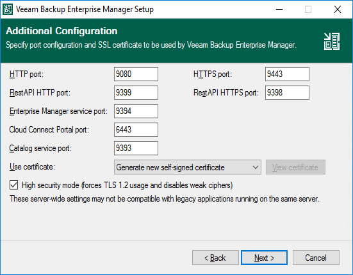Step 9  Specify Service Ports - Veeam Backup Enterprise