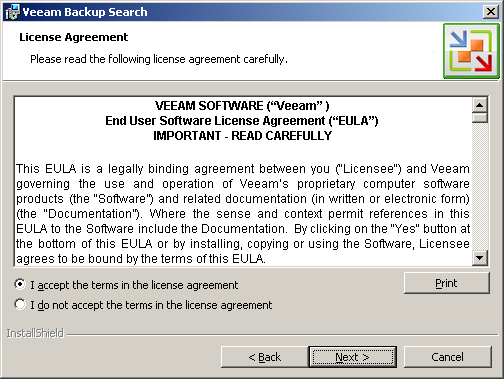 Step 3 Accept License Agreement Veeam Backup Enterprise Manager Guide