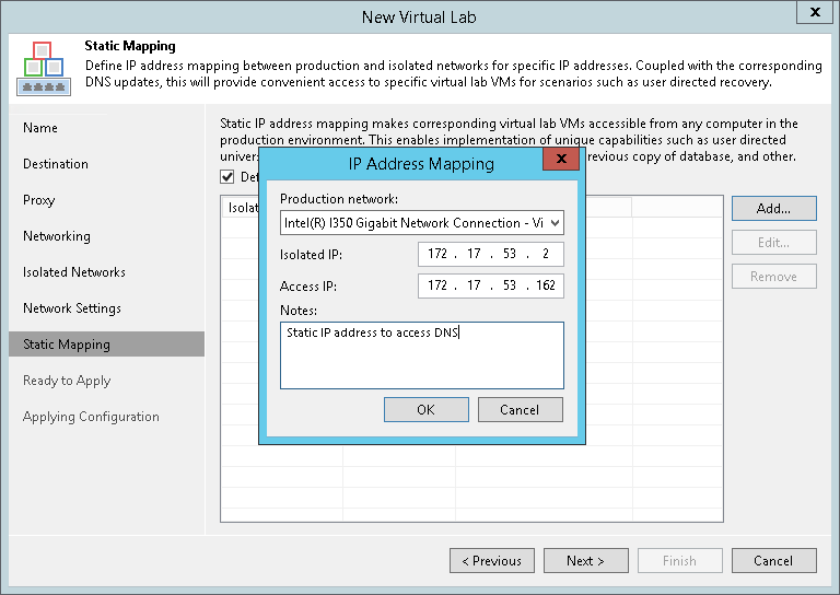 Step 8  Specify Static IP Mapping Rules - Veeam Backup Guide