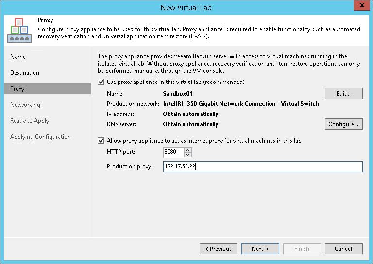 Step 4  Set Up Proxy Appliance - Veeam Backup Guide for Hyper-V