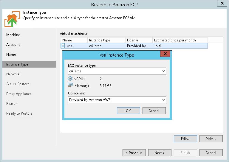 Step 5  Specify Instance Type - Veeam Backup Guide for Hyper-V