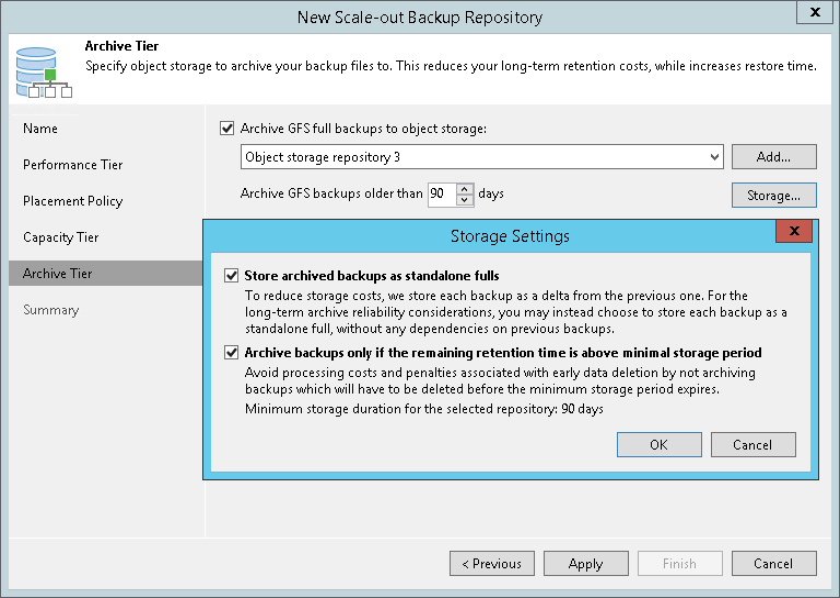 Step 5  Add Capacity Tier - Veeam Backup Guide for Hyper-V