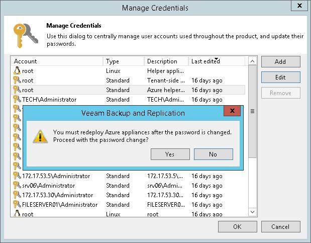 changing credentials for helper appliances veeam backup guide for rh helpcenter veeam com Computer Credentials Credential Program Meaning