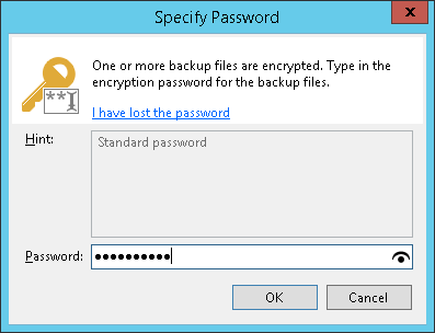 Decrypting Data with Password - Veeam Backup Guide for Hyper-V