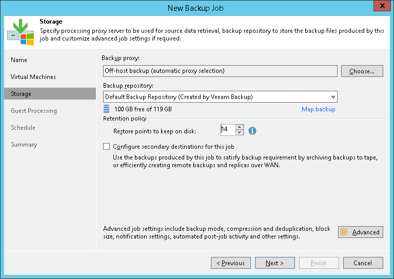 Assigning Off-Host Backup Proxies to Jobs - Veeam Backup