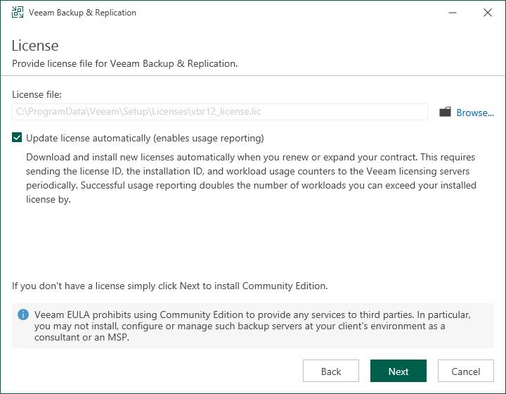 Installing License - Veeam Backup Guide for Hyper-V