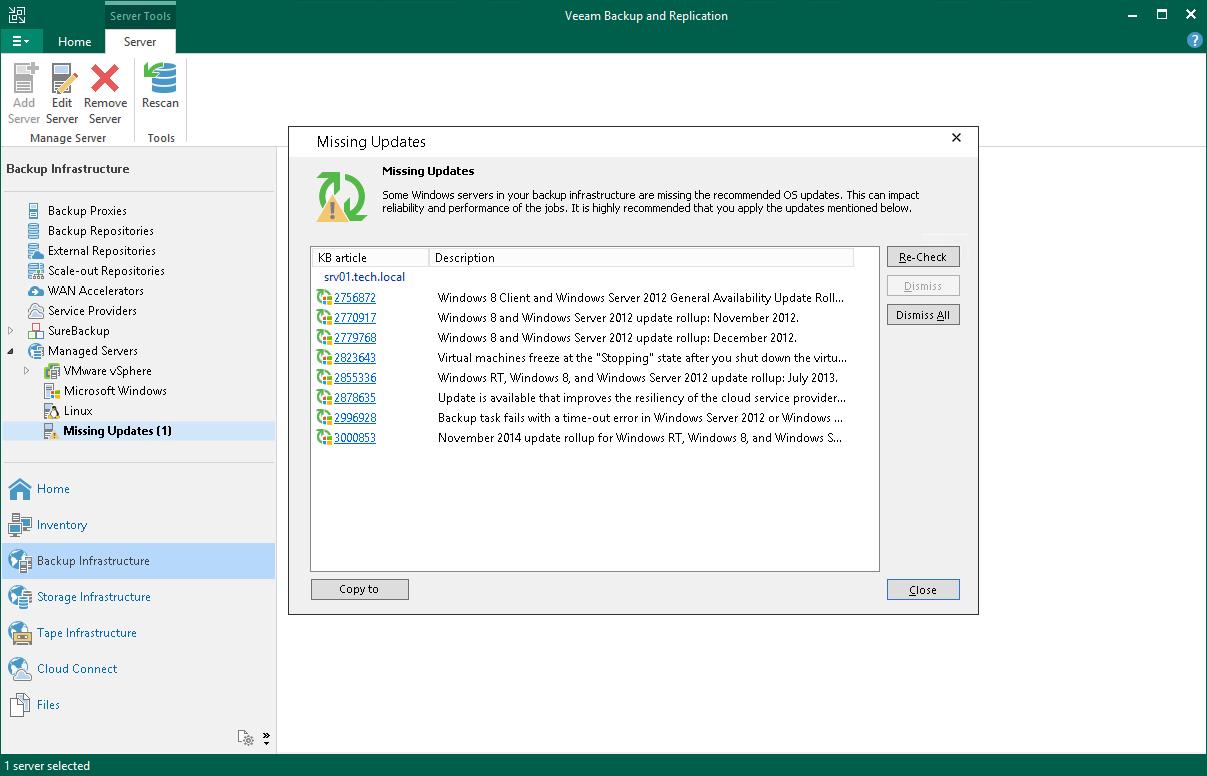 Installing Updates - Veeam Backup Guide for Hyper-V