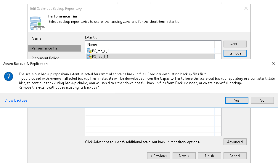 Removing Extents from Scale-Out Repositories - Veeam Backup Guide