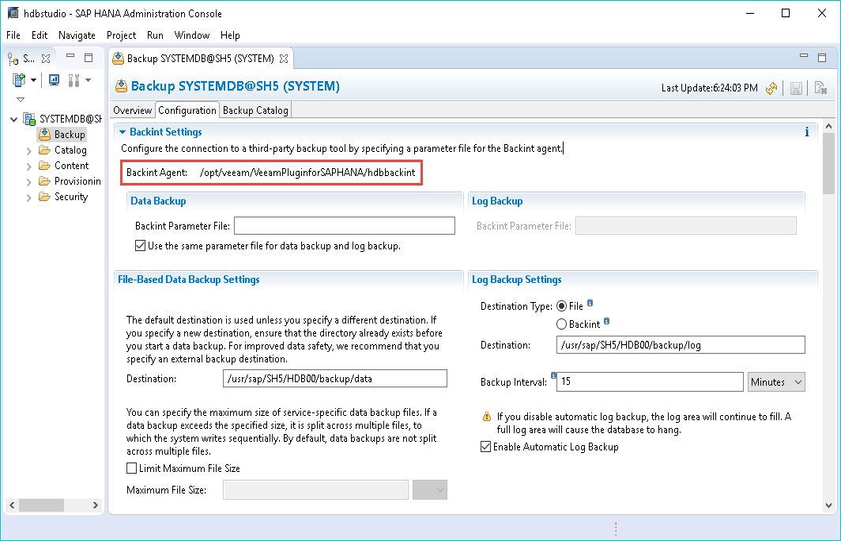 Configuring Veeam Plug-in for SAP HANA - Veeam Plug-ins for