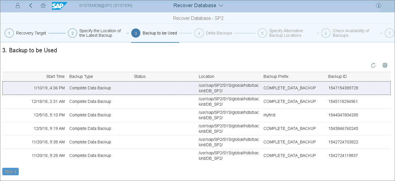 Recovering Tenant Databases with SAP HANA Cockpit - Veeam