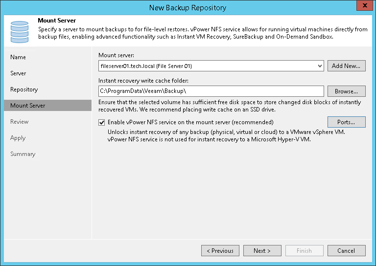 Step 5  Specify Mount Server Settings - Veeam Backup Guide for vSphere