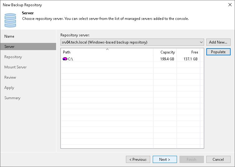 Step 3  Specify Server or Shared Folder Settings - Veeam Backup