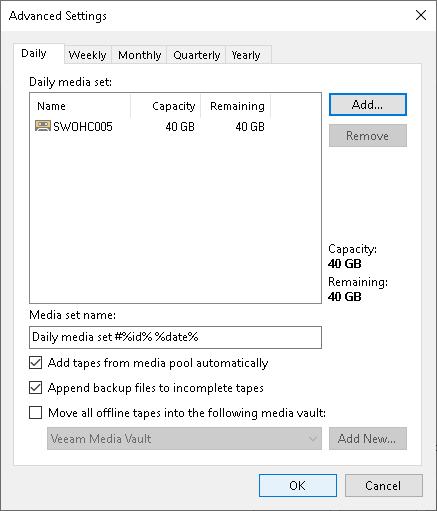 Step 5  Specify Advanced Media Set Options - Veeam Backup