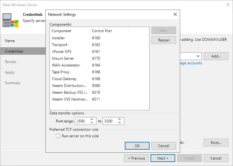 Step 3  Specify Credentials - Veeam Backup Guide for vSphere