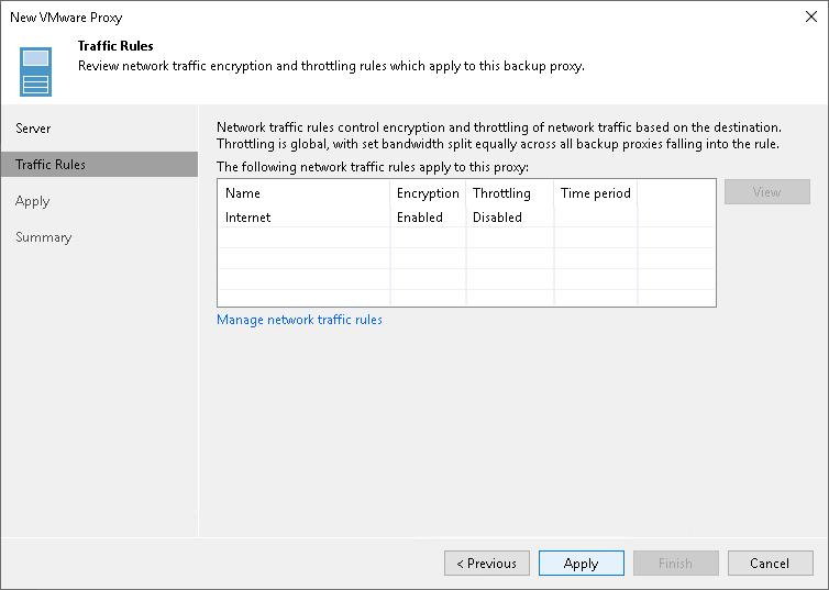 Step 3  Configure Traffic Rules - Veeam Backup Guide for vSphere