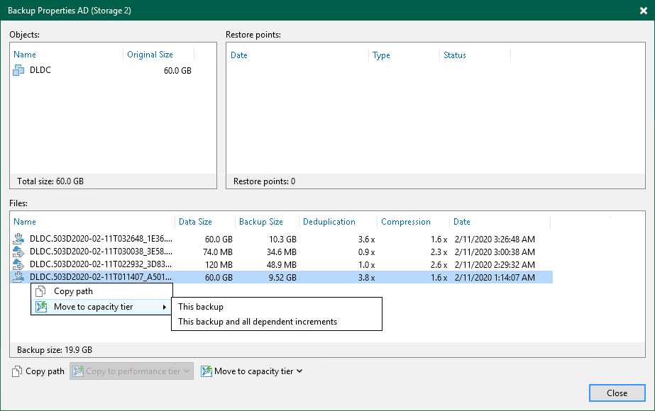 Moving to Capacity Tier - Veeam Backup Guide for vSphere