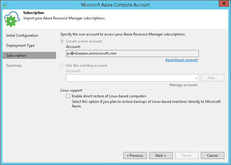 Adding Microsoft Azure Accounts - Veeam Backup Guide for vSphere