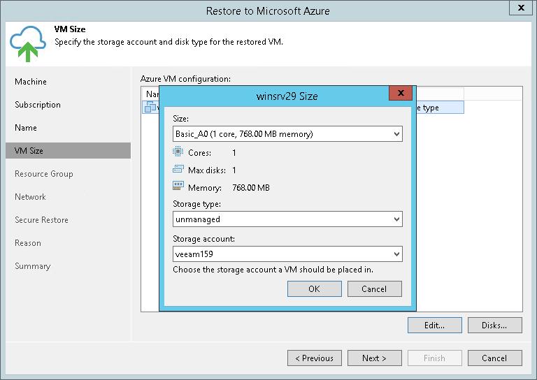 Step 4  Specify VM Size - Veeam Backup Guide for vSphere