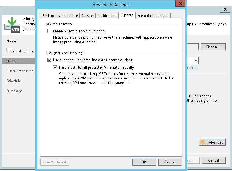 Changed Block Tracking - Veeam Backup Guide for vSphere