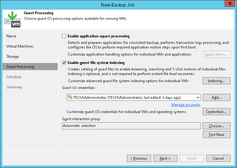 VM Guest OS File Indexing - Veeam Backup Guide for vSphere