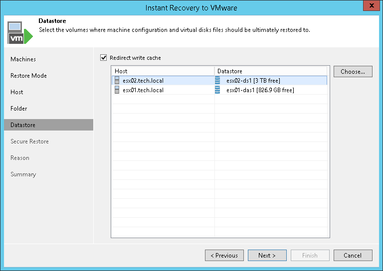 Step 6  Select Destination for Virtual Disk Updates - Veeam Backup