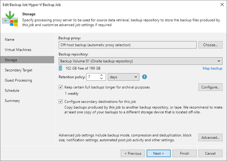 Linking Backup Jobs to Backup to Tape Jobs - Veeam Backup