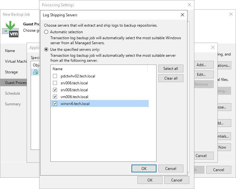 Log Shipping Servers - Veeam Backup Guide for vSphere