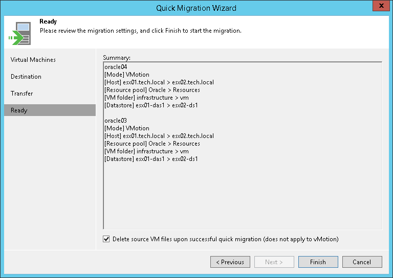 Step 5  Finish Working with Wizard - Veeam Backup Guide for