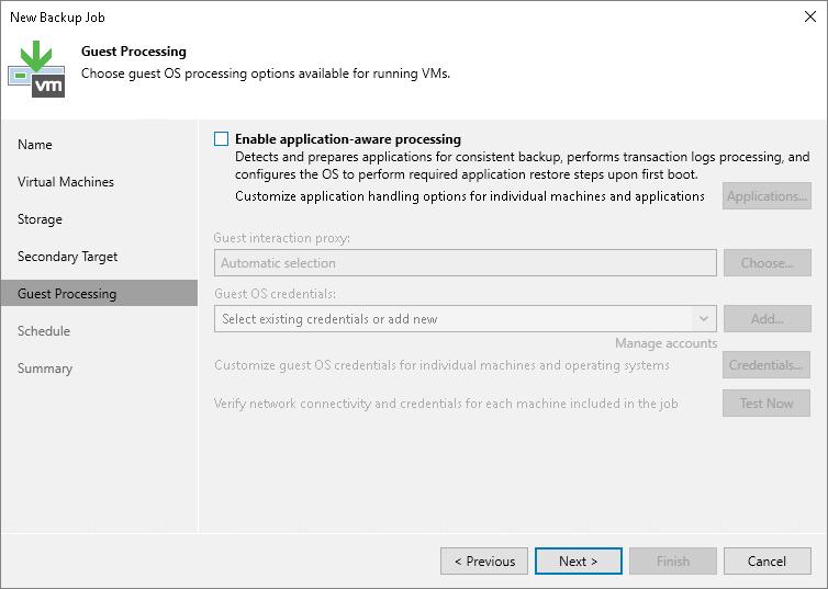 Configuring Snapshot-Only Jobs - Veeam Backup Guide for vSphere