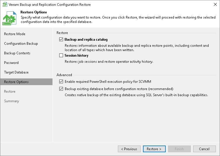 Step 7  Specify Restore Options - Veeam Backup Guide for vSphere