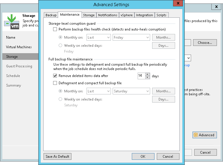 Retention Policy for Deleted Items - Veeam Backup Guide for vSphere